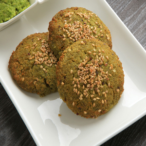 1 Dozen Sprouted Fava beans Falafel with Spinach (Gluten-Free)