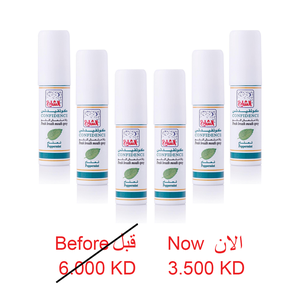 CONFIDENCE FRESH BREATH MOUTH SPRAY 18 ML 6 PCS