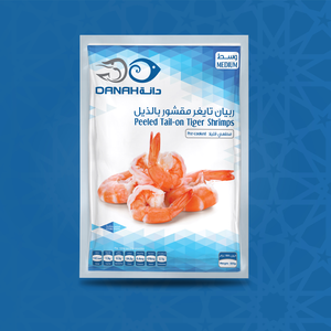 Peeled Tail-on Tiger Shrimps - Medium
