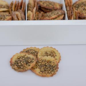 Small size gluten-free brown rice dried Za'ater sourdough fatayer ( 7 dozen )