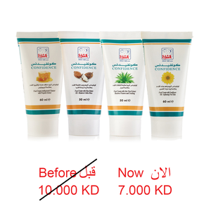 CONFIDENCE  FOOT CREAM 4 PCS SET