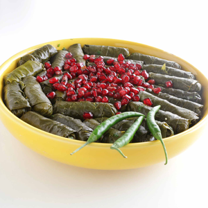 Grape leaves stuffed with sprouted brown rice &sprouted quinoa