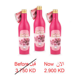 ROSE WATER 400 ML - 3 PCS