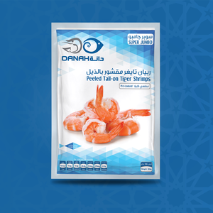 Peeled Tail-on Tiger Shrimps - Super Jumbo