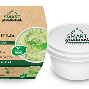 Smart Gourmet Pesto Hummus Container 225gm