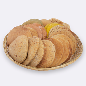 Whole grain sourdough mixed bread basket