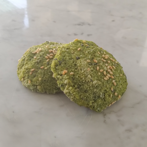 1 Dozen Sprouted Fava beans frozen Falafel with Spinach (Gluten-Free)