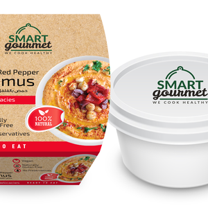 Smart Gourmet Roasted Red Pepper Hummus Container 225g