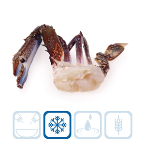 Blue Swimming Half Cut Crabs - Large
