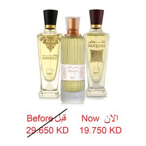 RAWAFED EDP 100 ML + MUZEN EDP 100 ML + NUQUSH EDP 100 ML