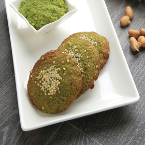 1 Dozen Sprouted Fava beans Falafel with vegetables (Gluten-Free)