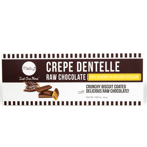 Melly's Crepe Dentelle Raw Choco No Added Sugar 80g