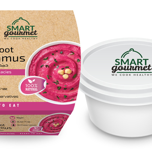 Smart Gourmet Beetroot Hummus Plain Container 225g