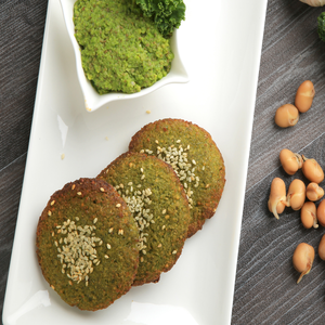 1 Dozen Sprouted Fava beans Falafel with Kale (Gluten-Free)