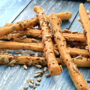 italian sourdough bread stick with 5 grains