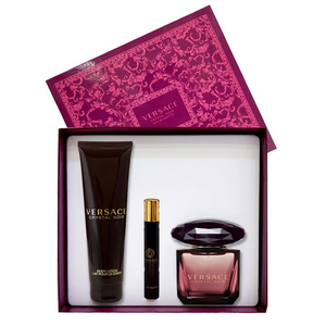 VERSACE CRYSTAL NOIR SET(EDT 90+10 ML+LOT 150 ML) 070439